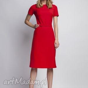 oryginalny prezent, lanti urban fashion sukienka, suk128 czerwony, czerwona