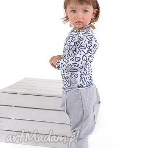 spodnie z kieszonką i długimi ściągaczami , bawelna, spodnie, handmade, ściagacz