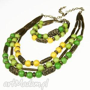 komplety c448 komplet biżuterii w modnej zieleni , kompletbizuterii, greenne, prezent