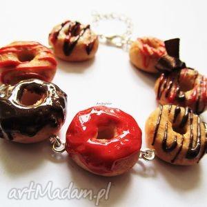 bransoletka słodkości, bransoletka, modelina, masa, fimo, donut biżuteria