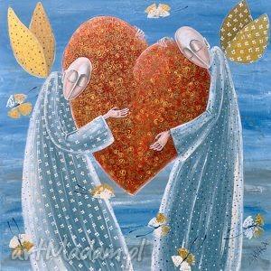 Wielkie serce Miłość, anioł, anioły, miłość,
