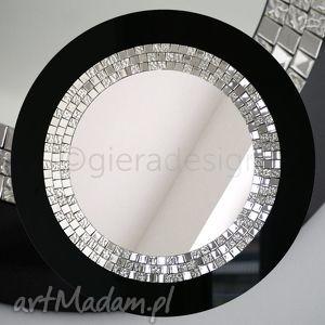 Lustro dekoracyjne w czarnej ramie Glamour, lustro, łazienkowe, dekoracyjne, lusterko