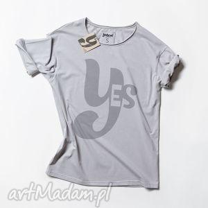 YES koszulka z napisem, napis, tshirt, unisex, nadruk, oversize