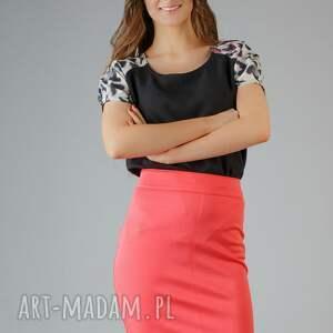 bluzki bluzka roma 1, panterka, wstawka, bufka, modna, wygodna, elegancka ubrania