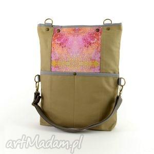 torba na ramię składana z serii duo beige no 1 , miejska, boho