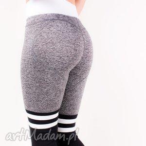 legginsy wyszczuplające elastyczne z paskami do ćwiczeń biegania xs s