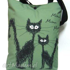 świąteczny prezent, torba na napę z kotami, koty, kot, torba, pojemna