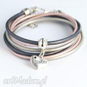 bransoletki dla siostry - pomysł na prezent silver pink, sister, siostra