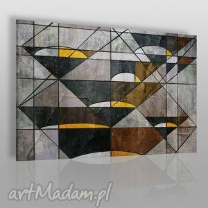 obraz na płótnie - abstrakcja geometria 120x80 cm 16401 , obraz, linie