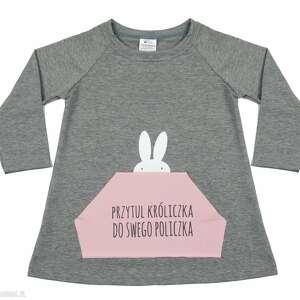 Tunika dla dziewczynki A kuku , tunika, dziewczynka, królik, sukienka, ubranka