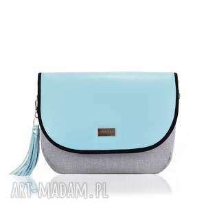 na ramię torebka puro view 930 pastel blue, torebka, szara, elegancka, wieczorowa