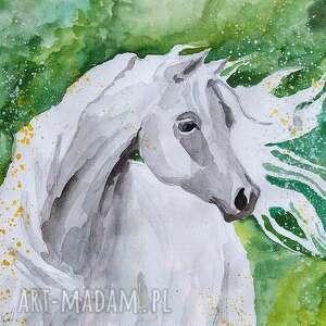obrazy obraz na płótnie łąka 100x70cm artystki plastyka adriany laube, koń, wydruk