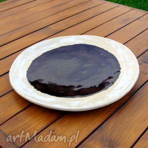 ceramika rozlana czekolada - patera, półmisek, misa, ozdoba, stół