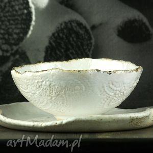 LACE white 1 zestaw naczyń, talerz, miska, misa, naczynia, zestaw, obiad