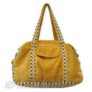 07-0007 żółta torebka sportowa torba fitness pigeon, modne, markowe, torebki
