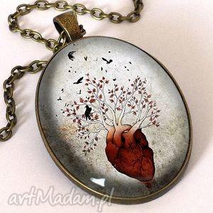 Czardrzewo Gra o tron - Owalny medalion z łańcuszkiem, drzewo, białe, gra,