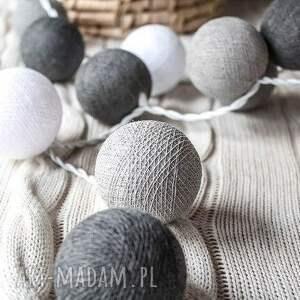 lampy qule cotton ball lights przyjemne szarości 20 qul, salon, sypialnia