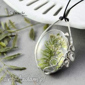 Prezent Łąka - naszyjnik z kwiatami , naszyjnik, wisior, srebrny, kwiaty, łąka