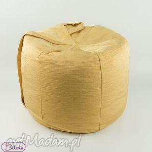 pufy złoty puf, pokójdziecka, pufa, siedzisko, taboret, złoto dom