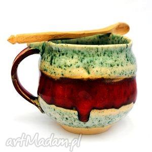 ceramiczny kubek - jt nr 78, kubek, naczynie, uzytkowe, unikatowe, spożywcze