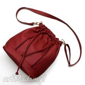 worek sakiewka - bordo, nowoczesna, hobo, sack, worek, handmade, lato torebki