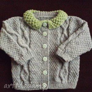 sweterek szarozielony, sweterek, włóczka, rękodzieło ubranka