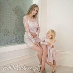 upominek na święta Komplet sukienek Victoria, mamaicórka, sukienki, wrzosowe,