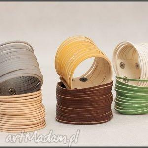 bransoletki stylowe skórzane - różne kolory, bransoletka, skórzana