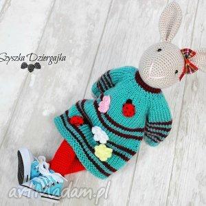 Prezent Szydełkowy króliczek przytulanka, króliczek, zając, maskotka, prezent