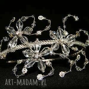 Opaska ślubna z kryształkami swarovskiego, ślub, opaska, kryształki, swarovski