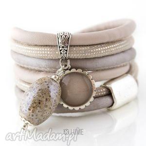bransoletki bransoletka z rzemieni sandstorm, oplatana, duża, szeroka, rzemienie