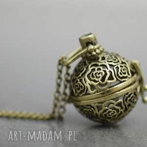 medalion 1001 nocy - medalion, kulka, orient, łancuszek, miedź, elegancja