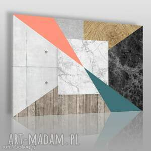 obraz na płótnie - abstrakcja tekstury 120x80 cm 30801 , tekstury, drewno, beton