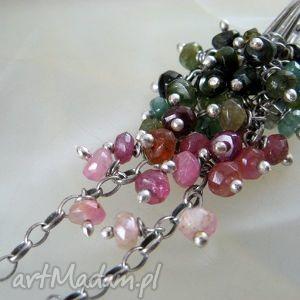 grona - turmalin, kolczyki biżuteria