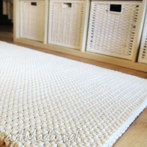 dwustronny dywan z bawełnianego sznurka , chodnik, dziany, sznurek, bawełniany, gruby