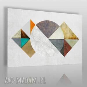 obrazy obraz na płótnie - abstrakcja geometria tekstury 120x80 cm 40901 , trójkąty