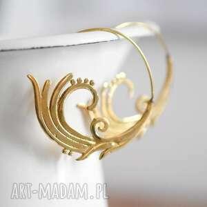 isfahan ii pozłacane kolczyki , orient, vintage, złoto, pozłacane, ornametn, lekkie