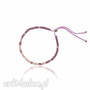 świąteczny prezent, bransoletka minimal - violet, bransoletka, handmade