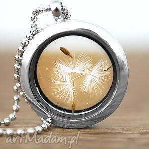 ♥ Dmuchawiec Naszyjnik, medalion, dmuchawiec, ziarna, szkło, spokój, bezpieczeństwo