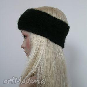 czarna opaska z cyrkoniami, opaska, włosy, cyrkonie, zimowa, czarna, ozdobna