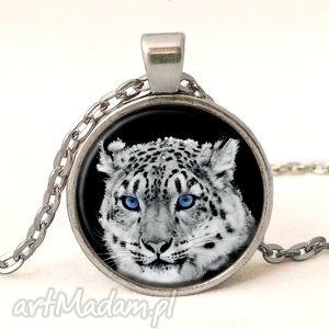 Prezent Śnieżny gepard - Medalion z łańcuszkiem, gepard, tygrys, oczy, medalion