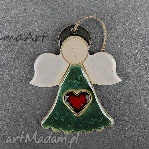 ceramiczny aniołek , ceramiczny, anioł, wnętrze, świąteczny prezent