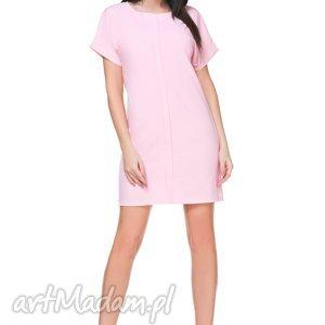 hand-made sukienki sukienka szyfonowa t166, jasnoróżowa