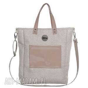 torba damska cuboid shine, wygodna, pojemna, prezent, zakupy torebki, świąteczny