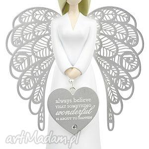 figurka anioł szczęścia i wiary you are an angel 15 5 cm, figurka, anioł, szczęście