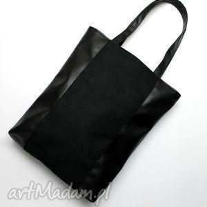 pod choinkę prezent, szoperka - czarna, elegancka, nowoczesna, handmade, prezent