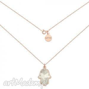 sotho naszyjnik z różowego złota kryształową ręką fatimy swarovski crystal, modny
