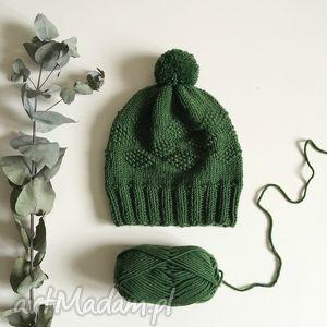 czapki czapka z wełny merynosów 100 wool, wełna, czapka, merinowool, handmade