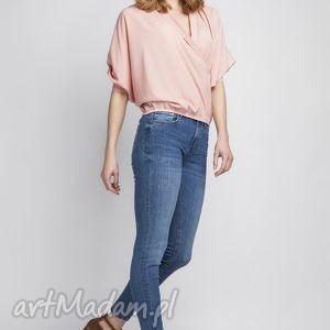 lanti urban fashion bluzka, blu126 róż, elegancka, kimono, kopertowa, zmysłowa