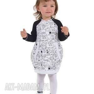 ubranka sukienka duszki, bawelna, sukienka, jesień, handmade dla dziecka